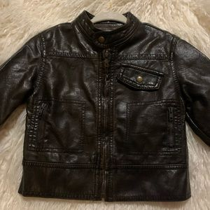EUC Stylish Faux Leather Moto Fall Jacket/Coat